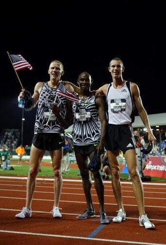 图文-美国奥运田径选拔赛30日 男子五千米前三名