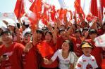 图文-奥运圣火在宁夏银川传递 现场气氛空前高涨