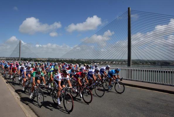 图文-2008环法自行车赛第一阶段期待已久的较量