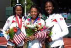 图文-美国奥运田径选拔赛赛况 菲利克斯200米摘金