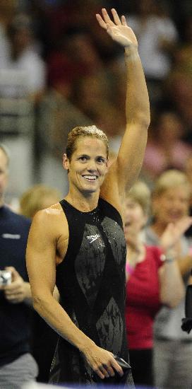图文-美国奥运会游泳选拔赛战报 托雷斯欢庆胜利