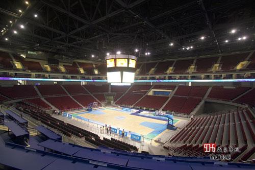 图文-明星带你看赛场之周笔畅 五棵松篮球馆内景