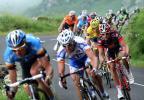 图文-环法自行车赛第七赛段结束蜿蜒山路车手驰骋