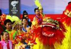 图文-奥运圣火在鞍山传递 起跑仪式上的精彩表演
