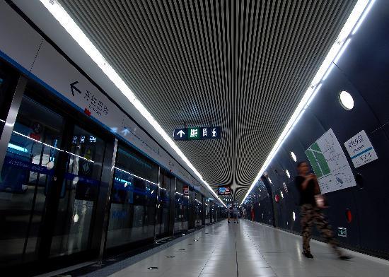 图文-体验北京地铁奥运支线 站内现代气息浓厚