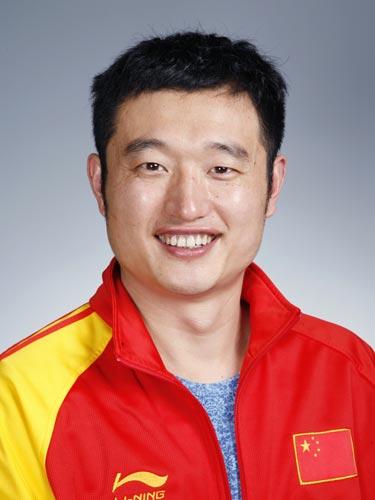 图文-北京奥运会中国代表团成立 射击队队员谭宗亮