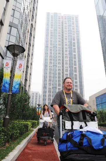 图文-北京奥运会媒体村开村 媒体人员纷纷抵达