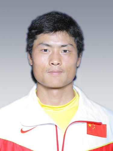 图文-北京奥运会中国代表团成立 皮划艇队员张志武