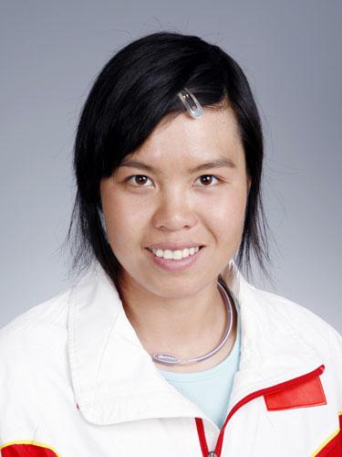 图文-北京奥运会中国代表团成立皮划艇队员李晶晶