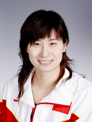 图文-北京奥运会中国代表团成立 游泳队队员王丹