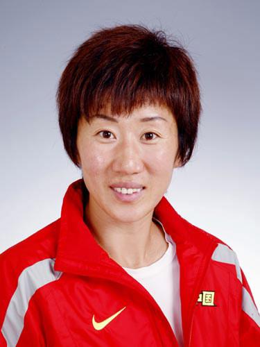 图文-北京奥运会中国代表团成立 女曲队员高丽华