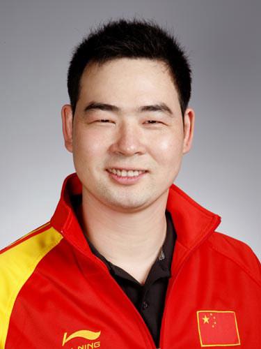 图文-北京奥运会中国代表团成立 射击队员林忠仔
