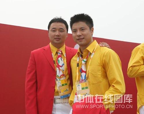 图文-北京奥运村举行开村仪式 张军谢中博并肩而立