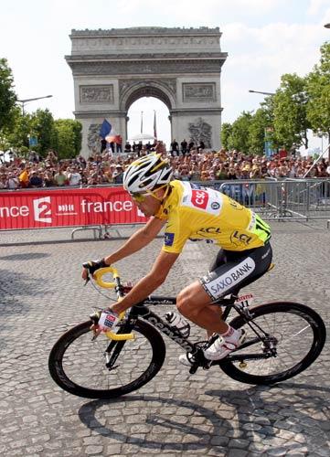 图文-2008年环法大赛落下帷幕骑过凯旋门