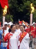 图文-奥运圣火四川广安传递 奥运情结激励抗震信心