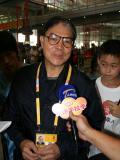 图文-霍震霆飞抵首都国际机场 霍震霆祝福北京奥运