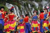 图文-北京奥运圣火在乐山传递 极具特色的舞蹈