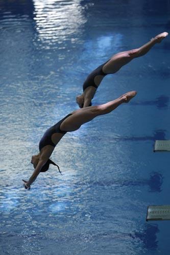 图文-国家跳水队赴香港访问表演 这才叫整齐