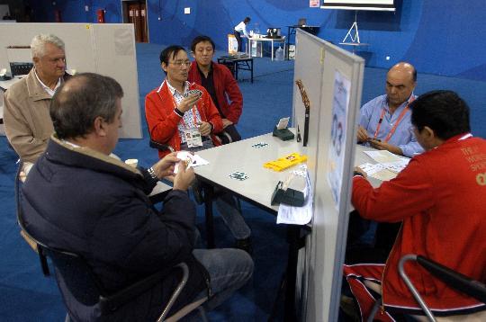图文-智运会中国男女桥牌队均进八强配合相当默契