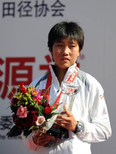 图文-北京国际马拉松赛结束陈荣屈居亚军