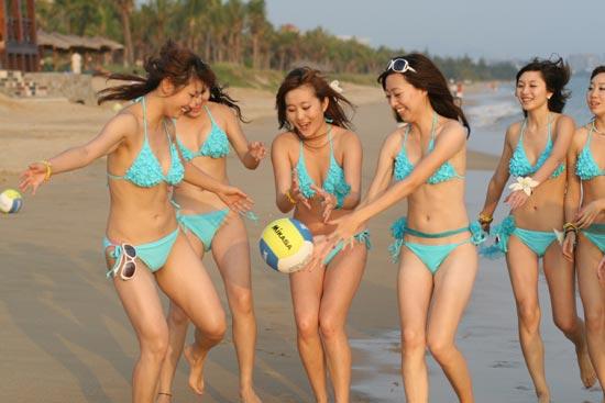 排球-沙膛球性感幻化宝贝写真海滩是图文wow板惊艳甲朋友图片