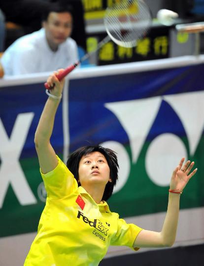 图文-香港羽毛球公开赛朱琳胜黄妙珠打出状态