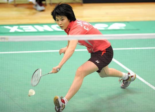 图文-香港羽毛球公开赛蒋燕皎晋级延续神勇状态
