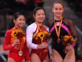 图文-世界杯总决赛中国两金收官女子自由操三甲