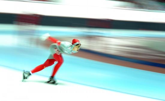 图文-付春艳获得女子5000米银牌 向终点冲刺