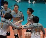 图文-女排联赛天津第六次夺冠上海女排虽败犹荣
