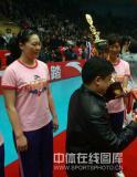 图文-女排联赛天津第六次夺冠天津老将王莉李珊