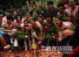 图文-女排联赛天津第六次夺冠和荣誉合个影