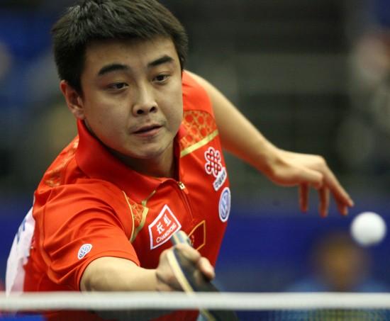图文-世乒赛男单王皓晋级近台回球镇定自若
