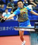 图文-世乒赛马琳晋级男单十六强奥运冠军救球