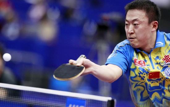 图文-世乒赛马琳晋级男单十六强突然发力胀红脸