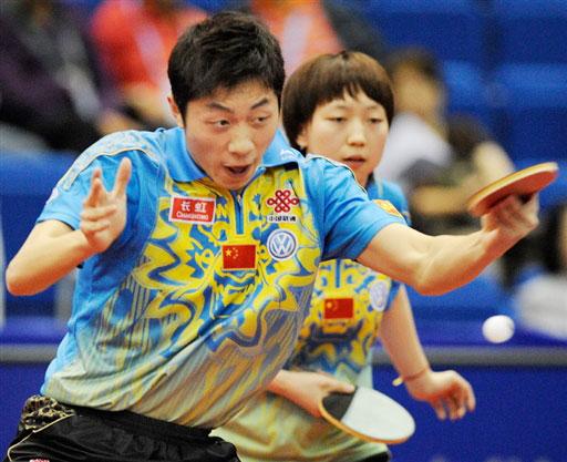 图文-世乒赛中国混双高歌猛进许昕/范瑛晋级32强