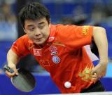 图文-世乒赛男单16强激战王皓轻取对手晋级