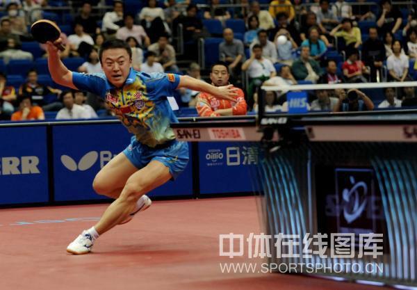 图文-世乒赛男单马琳4-3松平健太马琳屡被如此调动
