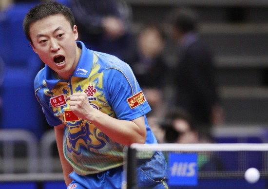 图文-世乒赛马琳击败朱世赫闯入四强庆祝得分