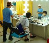 图文-乒乓球队拍摄宣传照花絮张怡宁尝试新造型