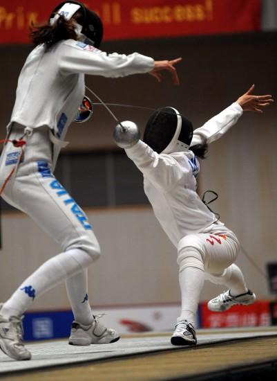 图文-国际剑联女子重剑世界杯落幕骆晓娟一击中的