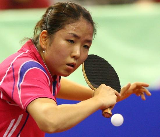 图文-中国公开赛于梦雨出局朴美英拼得满头大汗