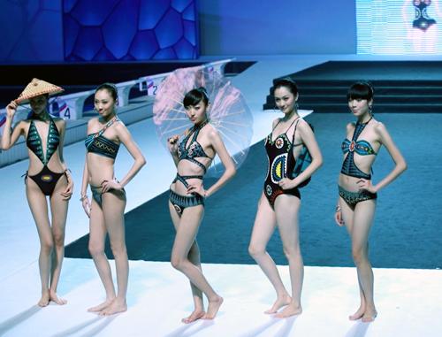 图文 中国泳装设计大赛水立方举行