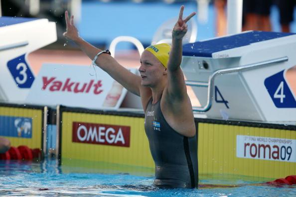 图文-世锦赛女子100米蝶泳决赛瑞典选手夺得冠军