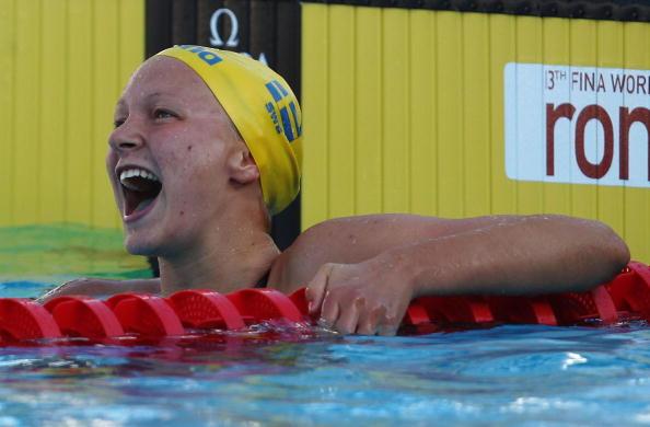 图文-世锦赛女子100米蝶泳决赛破世界纪录很兴奋