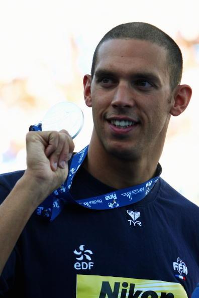 图文-世锦赛男子100米蛙泳决赛法国选手摘银