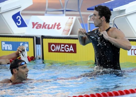 图文-世锦赛男子100米蝶泳决赛查维奇短暂的纪录
