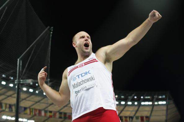 图文-世锦赛男子铁饼马拉乔沃斯基摘银惊天一吼
