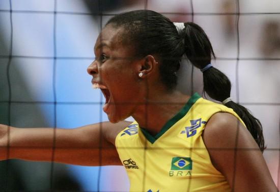 图文-[女排大奖赛总决赛]巴西3-1日本欢呼庆祝胜利
