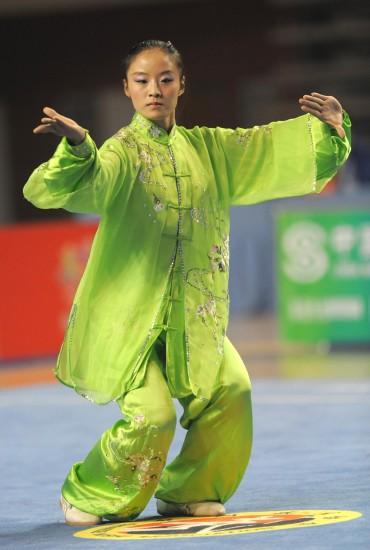 图文-女子太极拳太极剑全能赛赛况湖北吴雪琴